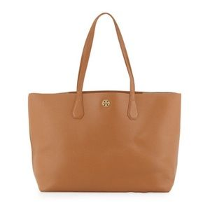 Like New Tory Burch Perry Tote, Bark/Light Gold
